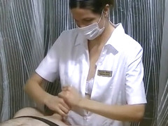 ANGRY MILF SURGICAL MASKED NURSE GIVES HANDJOB