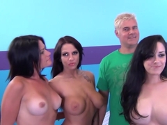 Best pornstars Ashli Ames, Lilith Lavey and Heather Joy in amazing brazilian, group sex sex scene