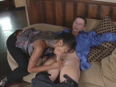 Evanni Solei sucks her horny boss to get promoted
