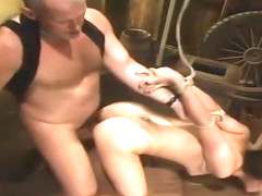 Sugar Bobbi Starr performing in BDSM action