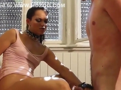 Mistress Jerks Him Off