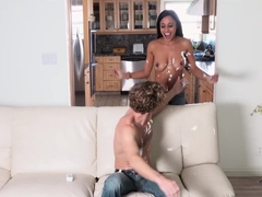 Gorgeous ebony babe Anya Ivy fucked hard and facialized