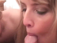 Busty Maggie Green Gives Blowjob with Jayla!
