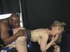 Porn legend Nina Hartley gets interracial in her sexy lingerie
