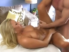 Pretty Blonde Cameron Dee Sucking Dick And Banged On Table