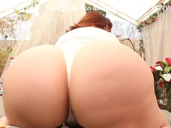 BBW Pawg Marcy Diamond getting fucked with a BBC strap on