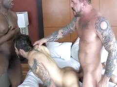 Crazy male in horny bareback gay sex movie