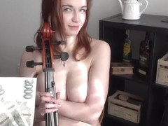 BBW CZECH GIRL SOPHIA TRAXLER FUCKING FOR MONEY AFTER PLAYING GAME OF THRONES THEME ON VIOLIN