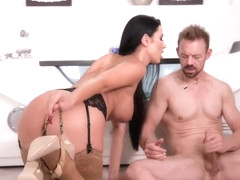 Ania Kinski is a busty brunette milf who is in the mood to eat cum