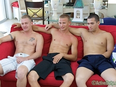 DJ, Gage & Kasey Military Porn Video