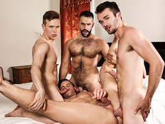 Beau Reed & Ethan Chase & Teddy Torres & William Sawyer in SuPERVisor Part 3 - DrillMyHole