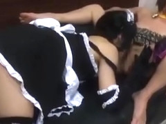 Asian Woman Getting Her Nipples Sucked Pussy Licked Rubbing In Scissor With