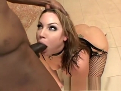 Flower Tucci has a massive black stick exploring her tight anal hole
