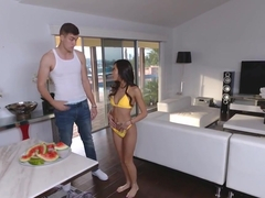 Vina Sky swallow Zac Wilds bunch load of cum