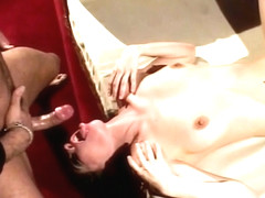 Pale Brunette Chick Bends Over For Doggystyle Fucking