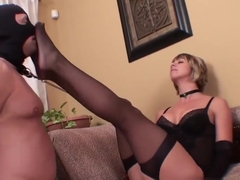 Brianna Sexy Stockings Footjob