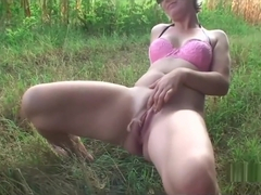 extreme sex in nature with mature Vera