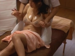 Japanese Cheating wife get massage fuck infornt of his Husband.