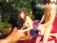 Retro Classic - Tracey Adams in Purple Satin Lingerie