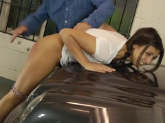 Naughty Cute Girl Punished on Car