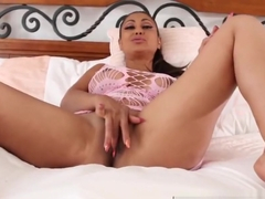 Hot solo action with Priya Rai as she makes herself climax