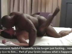 Finally! Wife fucks BBC stud on vacation (cuckold, captions)