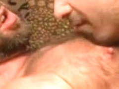 A bear decides to offer to his sexy bf a blowjob
