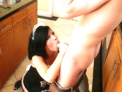 Belle Noire Is A Naughty Housemaid