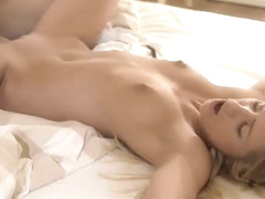 Nice blonde youthful slut Jessi Gold in real hardcore performance