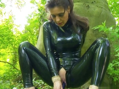 Black Latex Catsuit