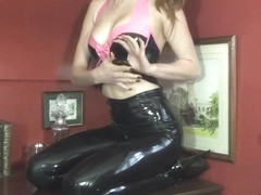 Scarlot Rose in Black Top and Black Leggings - LatexHeavenVideo