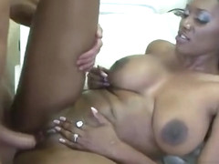 Pretty Nyomi Banxxx having passionate interracial sex