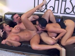 Threesome sex video featuring Keiran Lee, Sybil Stallone and August Taylor