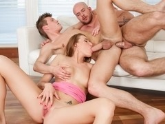 Victoria Daniels, Denton Gary, Alex Hell in Bi Curious Couples #11, Scene #04