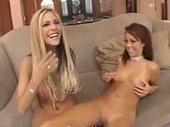 Carmel Moore & Paulina James share the cum