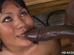 Oriental hoe Kyanna Lee interracial sex