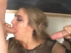 Lovely punk school girl deepthroats two part2