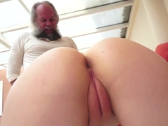 Kinky Babe Sucks Old Man