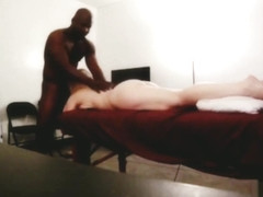 Busty Blonde gets a massage with a happy ending