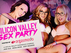 Silicon Valley Sex Party featuring Jade Nile, Moka Mora, and Zoey Monroe - NaughtyAmericaVR