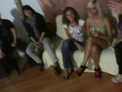 Allysin Moore & Cofi & Lucille & Marta & Stacey Silver in sexy college fuck scene with a lot of se.