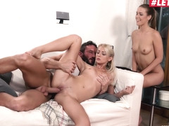 Alexis Crystal And Katy Rose Czech Sluts Share Step Daddys Cock