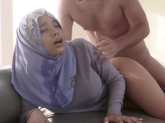 Logan Pierce goes deep anal fucking Aaliyah Hadid in her Hijab