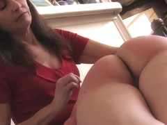 Sorority girl Harley gets a good spanking from Chelsea