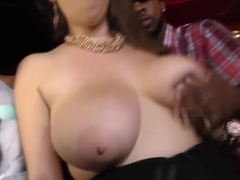 Busty slut Alex Chance gangbanged by black thugs