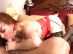 Delightful busty Russian experienced woman Sexy Vanessa making dudes dreams come true by receiveng.