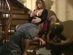 Vintage - Horny Busty Woman fucked 3 times in a row