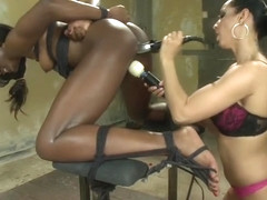 BDSM sex video featuring Isis Love and Ana Foxxx