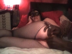 Sexy wife takes anal beads
