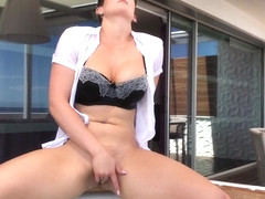 HannahBrooks Hot Tub Wet Clothes Fantasy  in private premium video